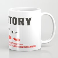 toy story Mugs featuring Toy Story Movie Poster by FunnyFaceArt