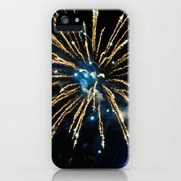 Blue & Gold Fireworks over Niagara Falls iPhone Case