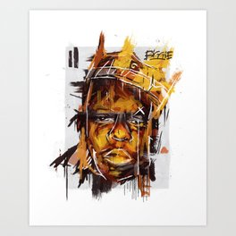 Biggie Digital Painting Art Print