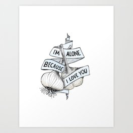 Garlic Love Art Print