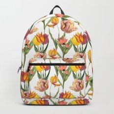 Vintage Floral Pattern | No. 3B | Tulips Backpack