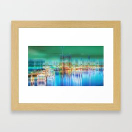 Amsterdam Habor by night Framed Art Print