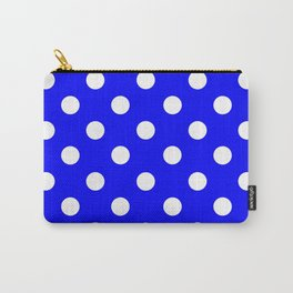 POLKA DOT DESIGN (WHITE-BLUE) Carry-All Pouch