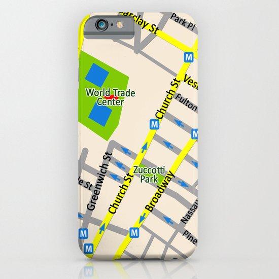 NEW YORK map design iPhone & iPod Case