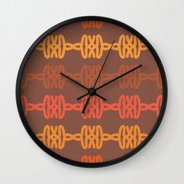 Earth Tone Tribal Pattern Wall Clock