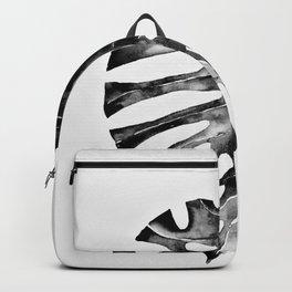 Minimal Monstera Backpack