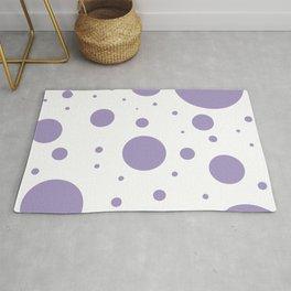 Lavender Bubbles Print Rug