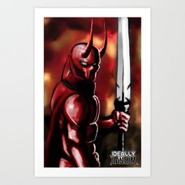 The Devil blood colored Art Print