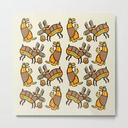 Moose & Bear Metal Print