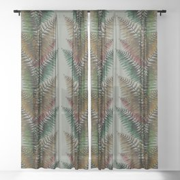 Looking up between Ferns Sheer Curtain