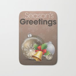 Holiday Ornaments with Bell Bath Mat