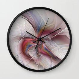 Abstract Dancing, Fractal Art Wall Clock
