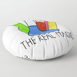 Science - The Real Magic Floor Pillow
