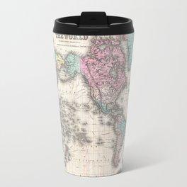 Vintage World Map from 1855 (Geographic Atlas of the World, America, Europe, Australia Map) Travel Mug