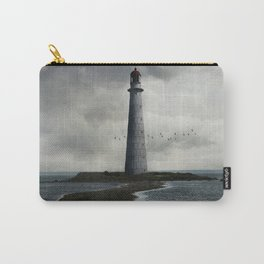 Cloudy seascape with an older lighthouse Carry-All Pouch
