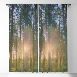 Scottish forest watercolor painting #7 Blackout Curtain