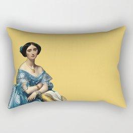 Portrait of a Lady - Ingres on Mustard  Rectangular Pillow