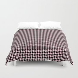 Soft Pastel Pink and Black Hounds tooth Check Duvet Cover
