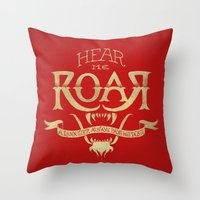 lannister Throw Pillows featuring Game of Type by Jango Snow