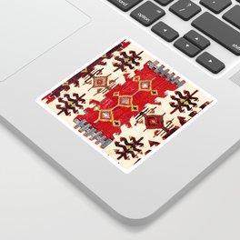 Burdur  Antique South West Anatolia Turkish Kilim Print Sticker