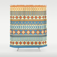 ethnic Shower Curtains featuring ethnic by Kozza