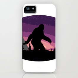 Bigfoot Holding a Skateboard iPhone Case