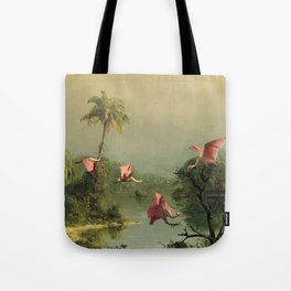 Spoonbills in the Mist Tote Bag