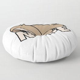 Nope Funny Sloth Floor Pillow