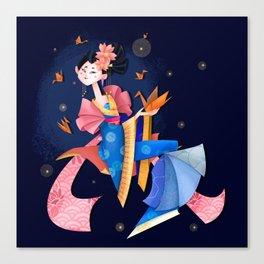 Origami Gueisha Canvas Print