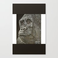ape Canvas Prints featuring Ape  by Stayartlife Studio