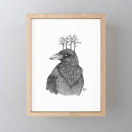 Raven of the Woods Framed Mini Art Print