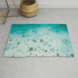 Aerial Beach Print, Beach Photography, Aerial Photography, Blue Ocean Print, Beach Print, Ocean Print, Ocean Waves, Beach Art, Home Decor Rug