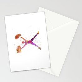 young woman cheerleader 02 Stationery Cards