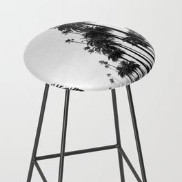 Los Angeles Black and White Bar Stool