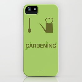 I heart Gardening iPhone Case