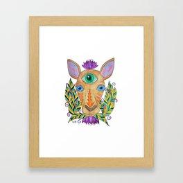 Eye of Omniscience of a kangaroo Framed Art Print