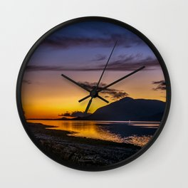 The Blue Hour over Loch Linnhe - Scottish Highlands Wall Clock