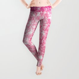 Perfect Pink Ombre Galaxy Sparkle Leggings