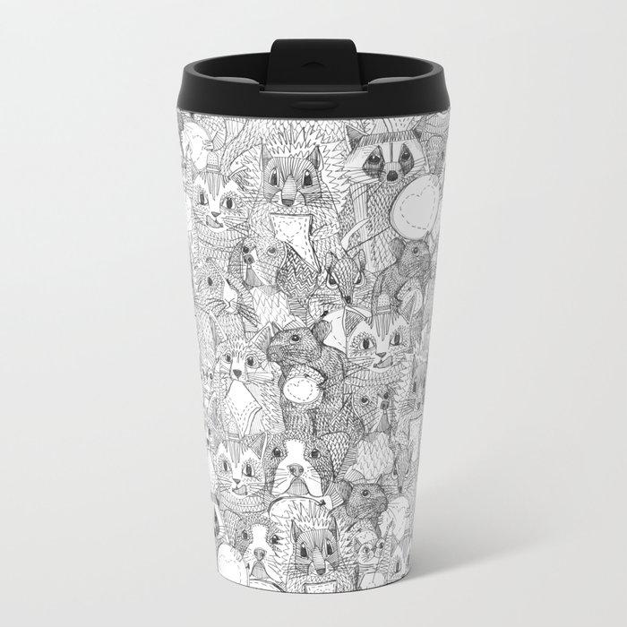 crazy cross stitch critters Metal Travel Mug