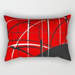 Black Dot Sticker Abstract Rectangular Pillow