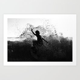 Surfing Costa Rica (180204-4589) Art Print