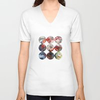 cosmos V-neck T-shirts featuring Cosmos by anunay rai