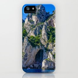 The White Grotto of the island of Capri, Italy off Naples and the Amalfi Coast iPhone Case