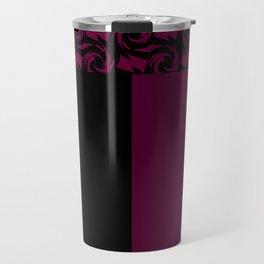Abstract combo black and Burgundy decor Travel Mug