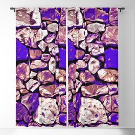 rock stone wall pattern vector art purple Blackout Curtain