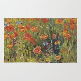 Robert William Vonnoh - Poppies In France Rug