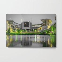 Baylor McLane Football Stadium Green Print Metal Print