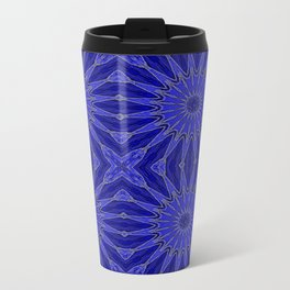 Blue pinwheel Flowers Travel Mug