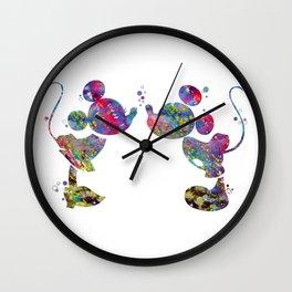 Minnie Loves Mickey Wall Clock
