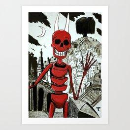 Raul, el rey de los muertos Art Print